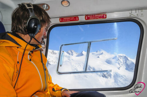 Heli-skiing at Gressoney in Aosta Valley on Monte Rosa